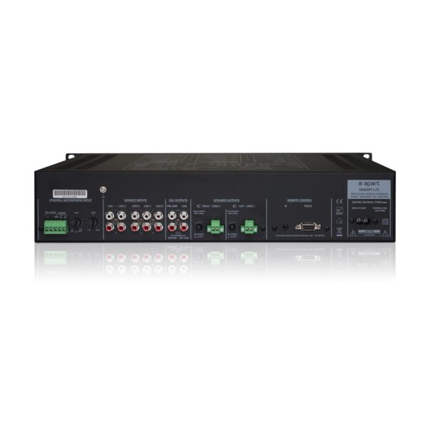 APART Audio Concept 1 mikšerinio stiprintuvo galas