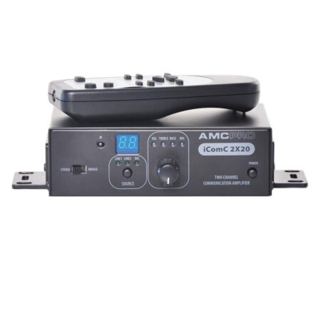 AMC iCOMC 2X20 dviejų kanalų stiprintuvas su RS2323 sąsaja
